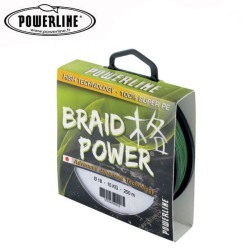 Tresse Powerline Braid Power 250m verte