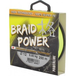 Tresse powerline braid power 250m jaune