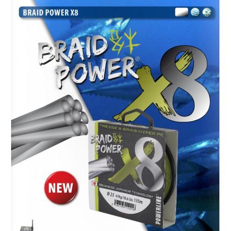 Tresse POWERLINE BRAID POWER 8 BRINS