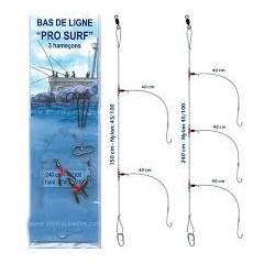 BAS DE LIGNE PRO SURF CASTING 2 HAMECONS N°4