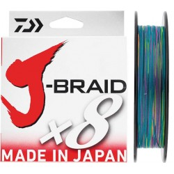 Tresse Daiwa J-Braid x8 Multi color