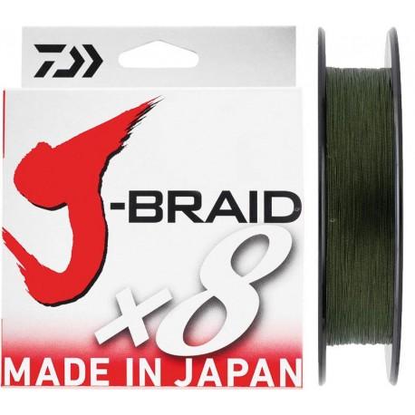 Tresse Daiwa J-Braid x8 Verte