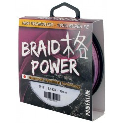 Tresse Powerline Braid Power 250M Mauve