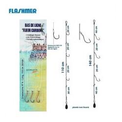 BAS DE LIGNE FLUOROCARBON 3 HAMECONS FLASHMER
