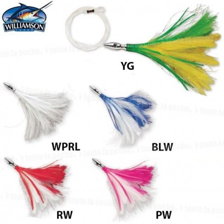 LEURRE WILLIAMSON FLAH FEATHER RIGGED